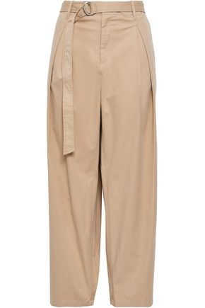 FILIPPA K Cropped cotton-blend gabardine wide-leg pants