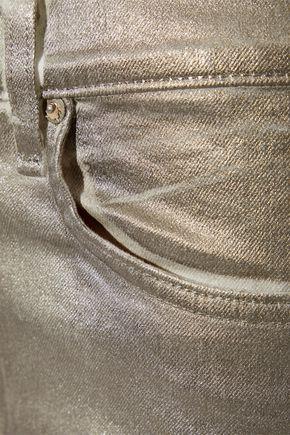 RAG & BONE Metallic high-rise skinny jeans