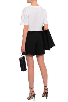 EACH X OTHER Georgette-trimmed twill shorts