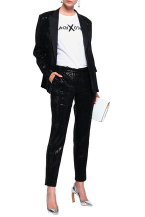 EACH X OTHER Sequined stretch-knit tapered pants