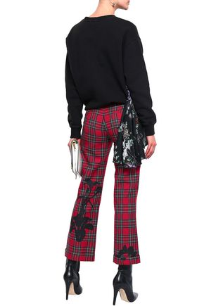 EACH X OTHER Printed twill bootcut pants