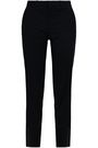 EACH X OTHER Chiffon-trimmed wool slim-leg pants