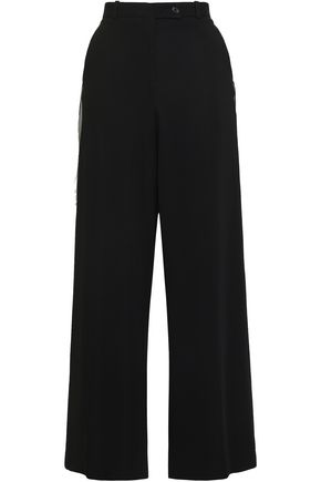 EACH X OTHER Satin-trimmed woven wide-leg pants