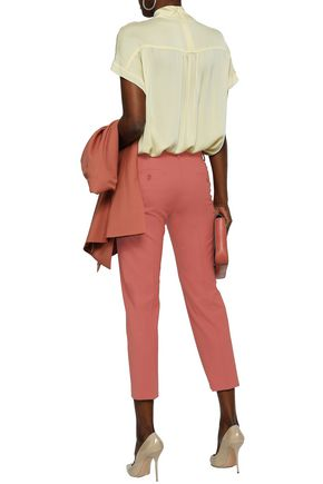 THEORY Treeca cropped stretch-wool slim-leg pants