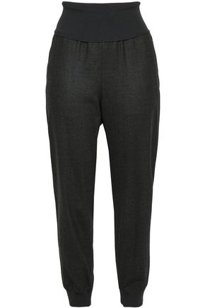THEORY Wool-blend flannel track pants