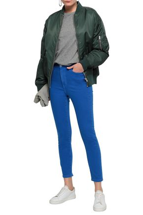 CURRENT/ELLIOTT The Ultra High Waist cropped high-rise skinny jeans