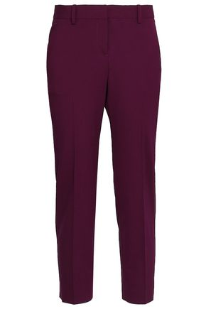 THEORY Cropped wool-blend slim-leg pants