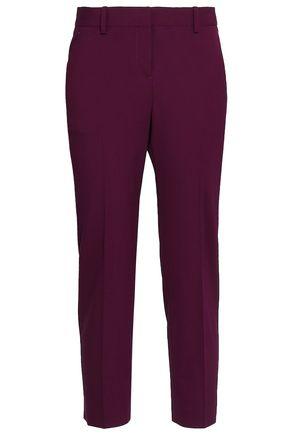 THEORY Cropped wool-blend slim-leg pants