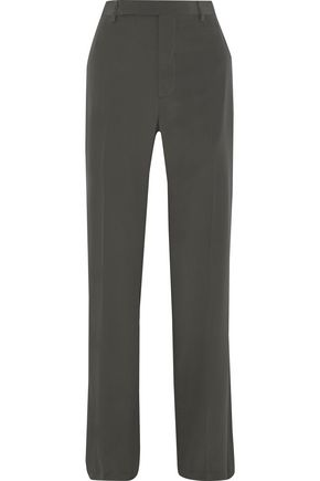 RICK OWENS Dietrich silk crepe de chine straight-leg pants