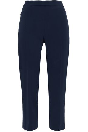 THEORY Cropped stretch-crepe slim-leg pants
