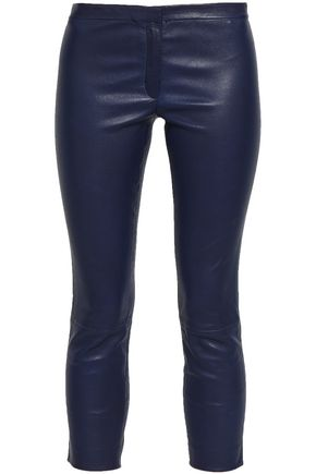 THEORY Bristol cropped leather skinny pants