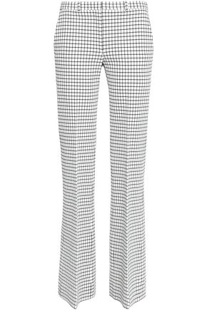 THEORY Checked woven bootcut pants