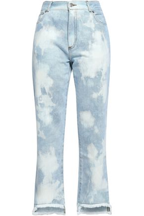 EACH X OTHER Embroidered distressed mid-rise boyfriend jeans