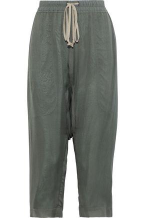 RICK OWENS Cropped silk crepe de chine harem pants