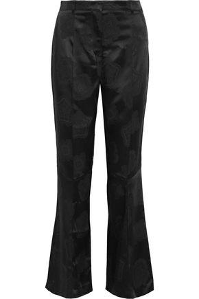 ETRO Violante satin-jacquard bootcut pants