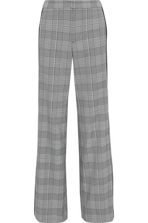 ALICE + OLIVIA Bo Prince of Wales checked cady wide-leg pants