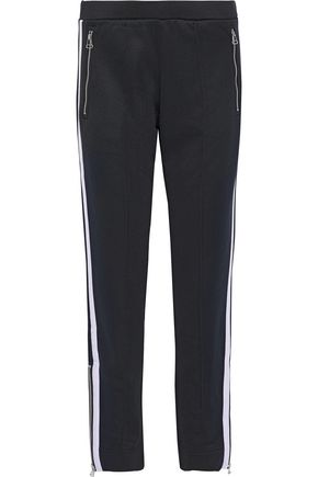 RAG & BONE Milo zip-detailed striped French terry track pants