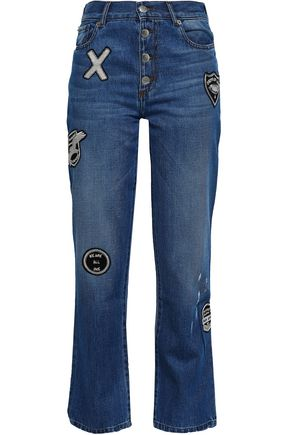 EACH X OTHER Appliquéd mid-rise bootcut jeans