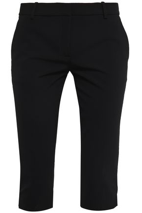 THEORY Stretch-crepe cropped slim-leg pants