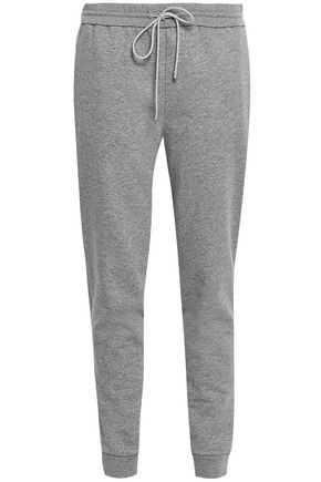 THEORY Mélange cotton-blend fleece track pants