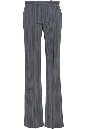 THEORY Wool-blend jacquard bootcut pants