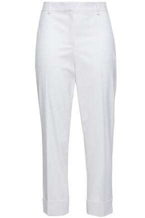 THEORY Cropped wool-twill slim-leg pants