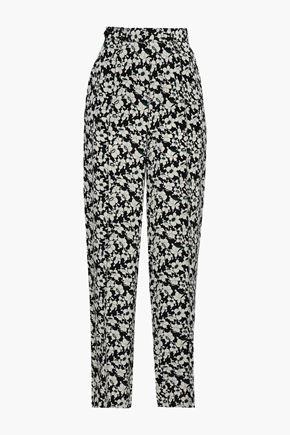 JOSEPH Floral-print silk crepe de chine wide-leg pants