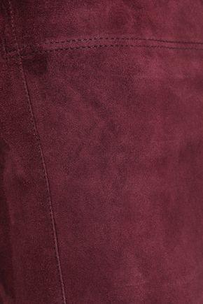 JOSEPH Stretch-suede leggings