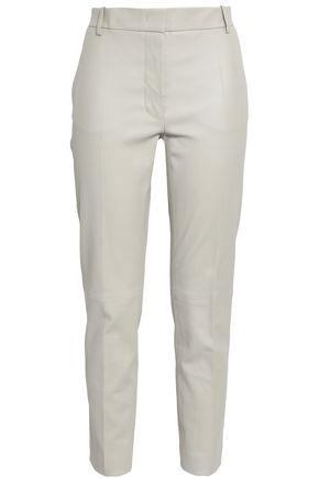 JOSEPH Leather slim-leg pants
