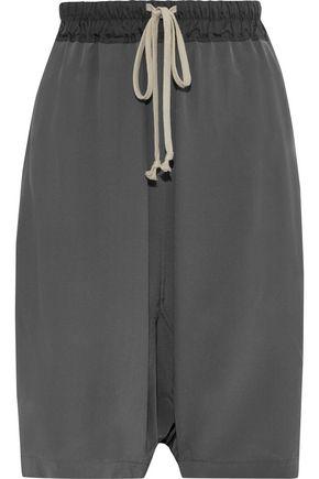 RICK OWENS Pods silk crepe de chine shorts