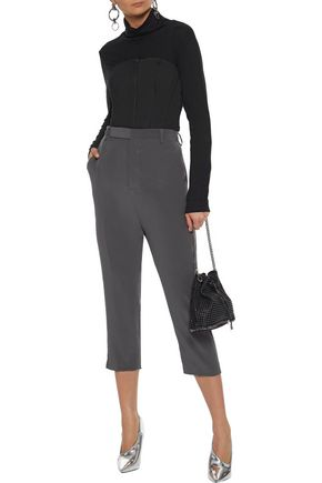 RICK OWENS Cropped silk tapered pants