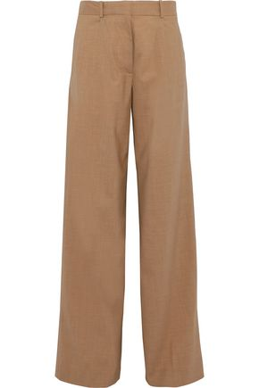 VICTORIA BECKHAM Stretch-wool wide-leg pants