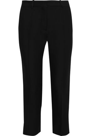 VICTORIA BECKHAM Cropped woven slim-leg pants