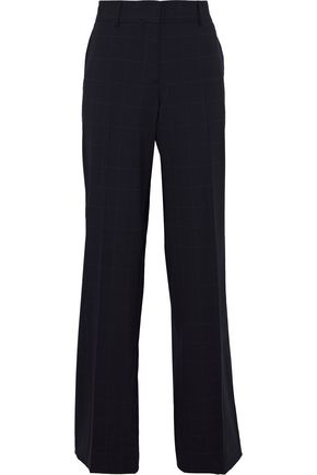 ETRO Checked stretch-wool wide-leg pants