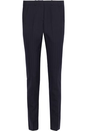 VICTORIA BECKHAM Pinstriped wool-blend slim-leg pants