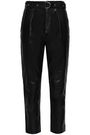 IRO Ceana cropped leather tapered pants