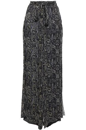 IRO Printed georgette wide-leg pants