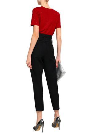 IRO Cropped lace-up cady pants