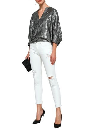 IRO Jarod distressed mid-rise skinny jeans
