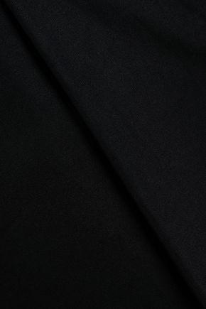 ALEXANDER WANG Grosgrain-trimmed cotton-poplin wide-leg pants