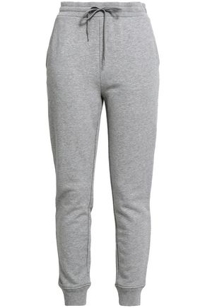 ALEXANDERWANG.T Mélange French cotton-blend terry track pants