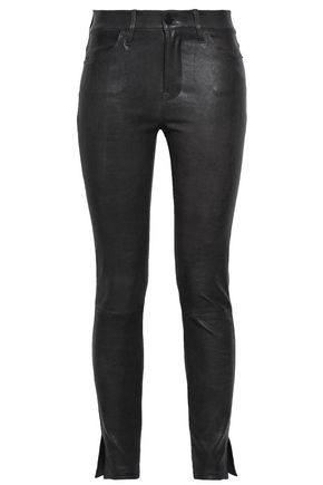 FRAME Stretch-leather skinny pants