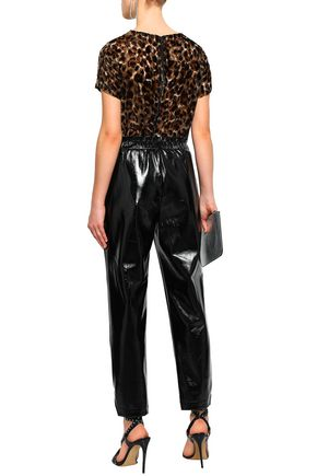 FRAME Faux leather straight-leg pants