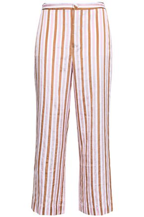 FRAME Striped jacquard wide-leg pants