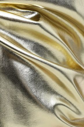 FRAME Metallic faux leather tapered pants