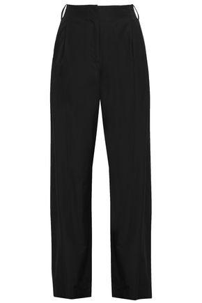 DIANE VON FURSTENBERG Pleated cotton-poplin straight-leg pants