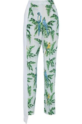STELLA McCARTNEY Padma Paradise printed silk crepe de chine straight-leg pants