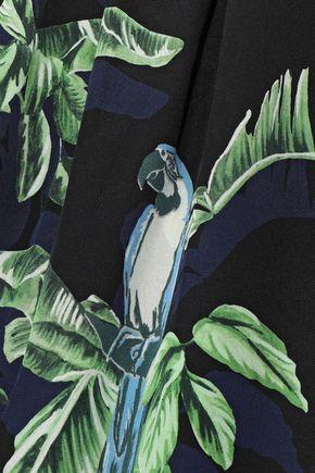 STELLA McCARTNEY Christine pleated printed silk tapered pants
