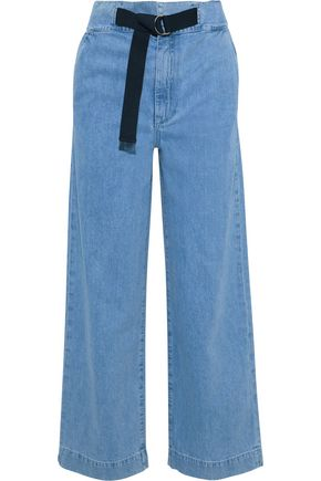 RAG & BONE Belted high-rise straight-leg jeans