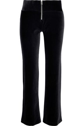 ENZA COSTA Cotton-blend velvet straight-leg pants